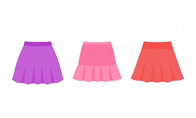 Spódnice dla niemowlaka. ilustracja. ubrania dla dziewczynek.