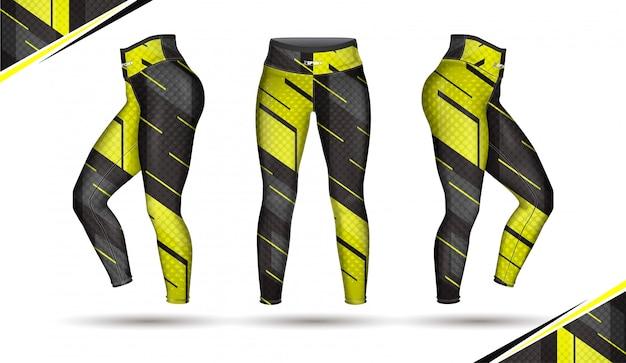 Spodnie legginsy moda wektor ilustracja z formy