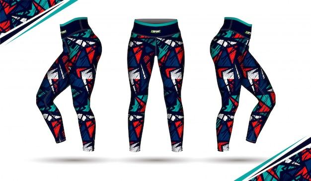 Spodnie legginsy szkolenia ilustracja moda
