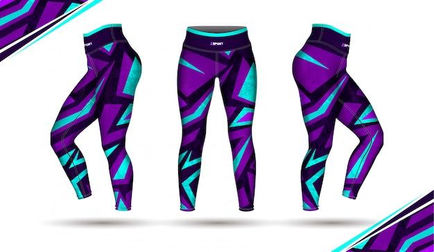 Spodnie legginsy trening moda wektor ilustracja