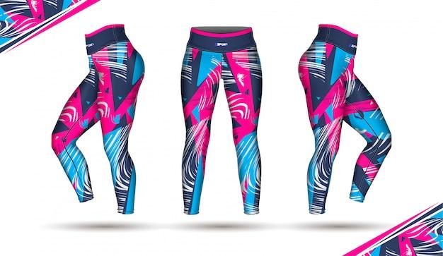 Spodnie legginsy trening mody ilustracja