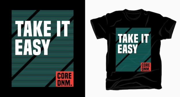 Spokojnie typografia przy projektowaniu koszulek
