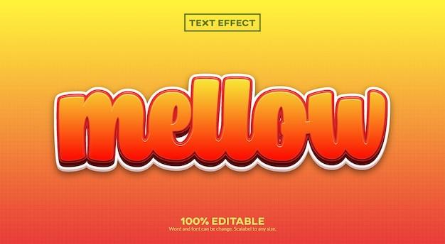 Spokojny efekt tekstu 3d