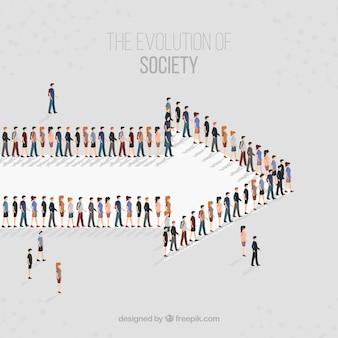 Społeczeństwo idzie w kierunku