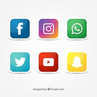 Społeczna ikona wektora redes sociales