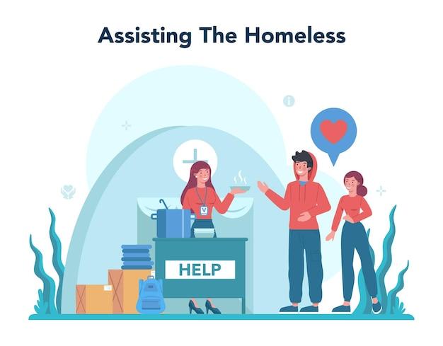 Społeczność charytatywna wspiera i opiekuje się