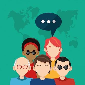 Społeczność społecznościowa - media społecznościowe globalne