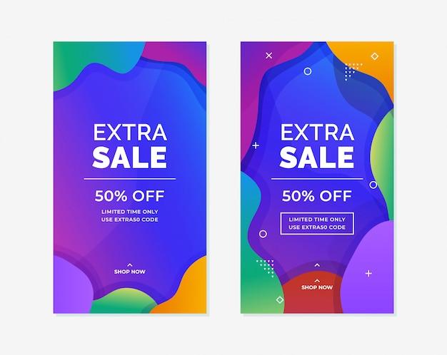 Społecznościowy medialny opowieść online promocja produktu pionowo szablonu tła plakatowy projekt.