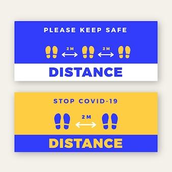 Społeczny znak transparent odległości