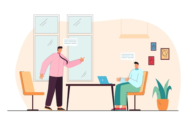 Spór między biznesmenami na spotkaniu