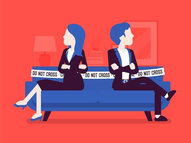 Spór między mężczyzną a kobietą