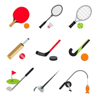 Sport ball game tenis stołowy badminton golf fencing fishing