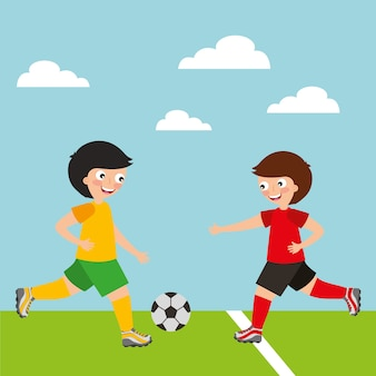 Sport dzieci aktywność piłkarze chłopcy