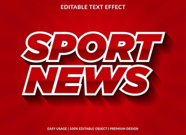Sport efekt wiadomości tekst szablon