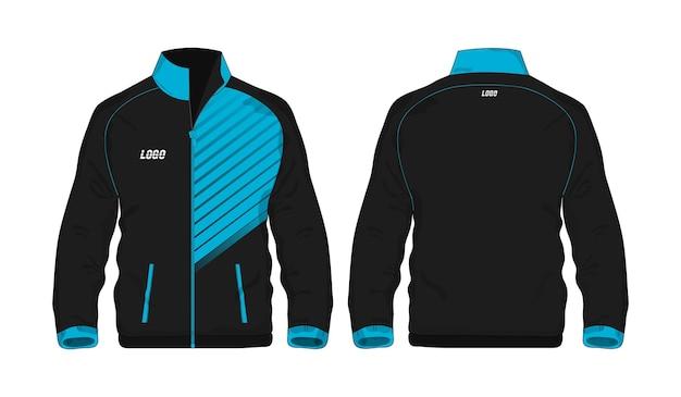 Sport jacket niebieski i czarny szablon projektu na białym tle. ilustracja wektorowa eps 10.