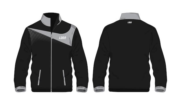 Sport jacket szary i czarny szablon do projektowania na białym tle. ilustracja wektorowa eps 10.
