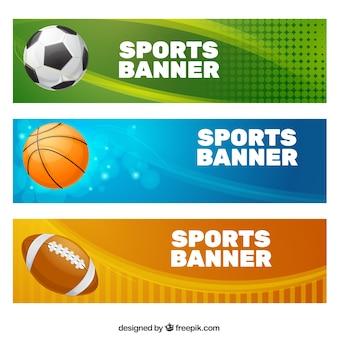 Sport Kolekcja Banner Premium Wektorów