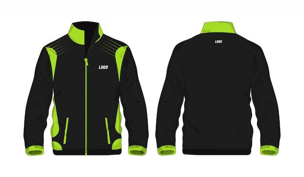 Sport kurtki zielona i czarna t ilustracja
