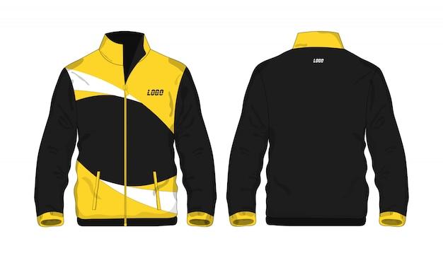 Sport kurtki żółty i czarny szablon dla projekta na białym tle. wektorowa ilustracja eps 10.