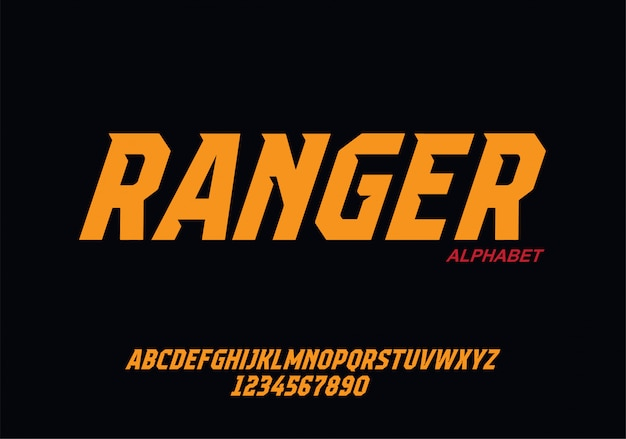 Sport modern alphabet font. czcionki typograficzne w stylu miejskim dla technologii, cyfrowego, projektowania logo filmowego.