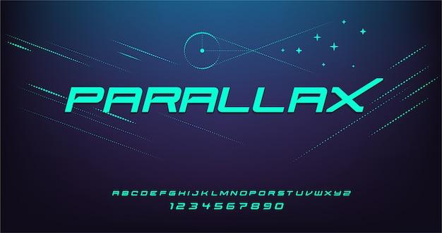 Sport nowoczesna futurystyczna czcionka alfabetu. czcionki typograficzne w stylu miejskim dla technologii, cyfrowego, projektowania logo filmowego.