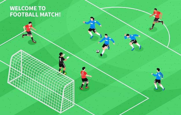 Sport piłka nożna piłka nożna izometryczny