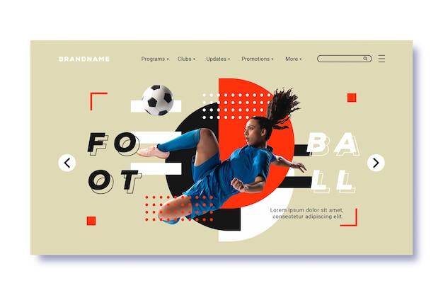 Sport strony docelowej ze zdjęciem