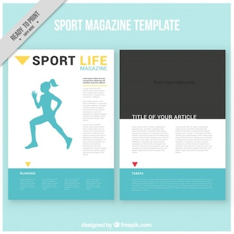 Sport szablon magazyn