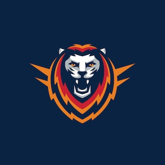 Sporta lwa projekta ilustraci wektorowy szablon