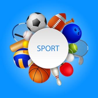 Sporta wyposażenia elementów tła ilustracja