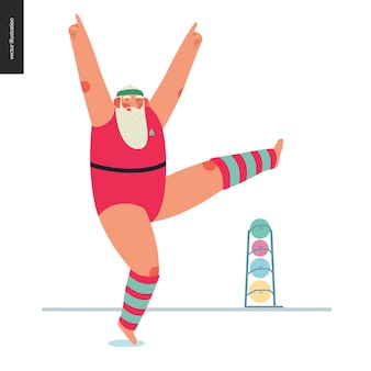 Sporting santa - aerobik