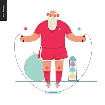 Sporting santa - skakanka
