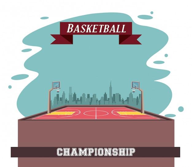 Sportowa gra w koszykówkę