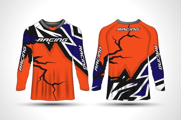 Sportowa koszulka motocyklowa z długim rękawem