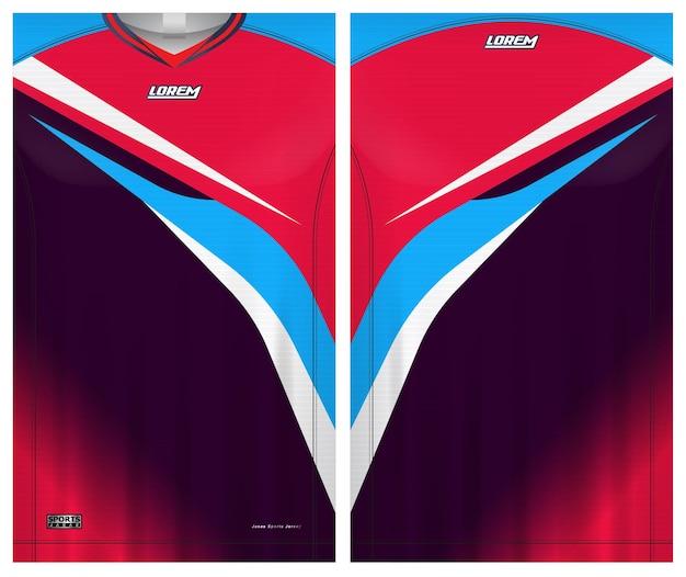 Sportowa koszulka piłkarska, szablon widoku z przodu iz tyłu