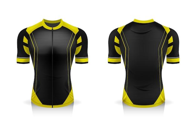 Sportowa koszulka z okrągłym dekoltem do odzieży rowerowej.