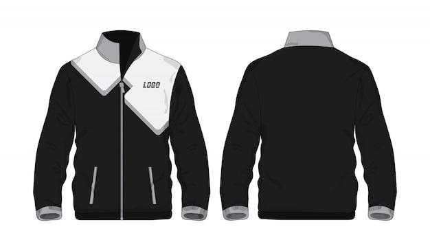 Sportowa kurtka szara i czarna t ilustracja