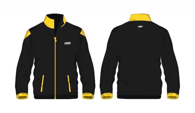 Sportowa kurtka żółta i czarna t ilustracja