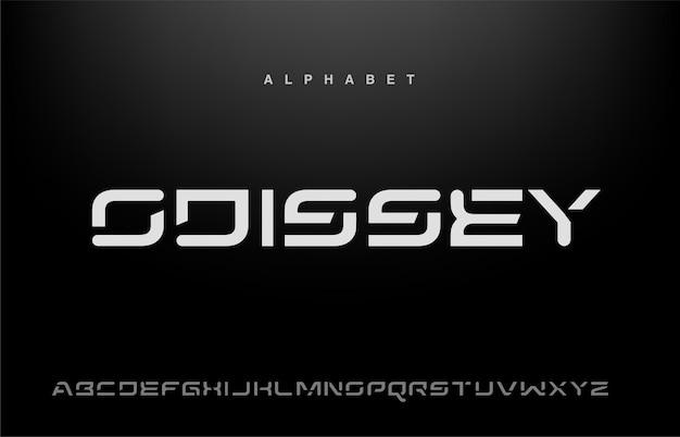 Sportowa nowoczesna czcionka alfabetu typografia miejska