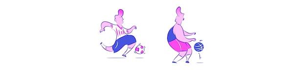 Sportowa postać w stylu vintage