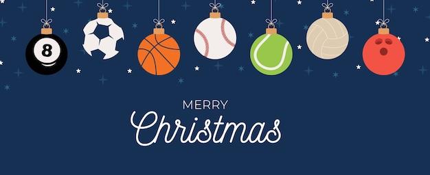 Sportowa świąteczna kartka z życzeniami.