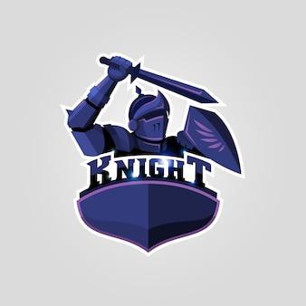 Sportowe logo rycerza