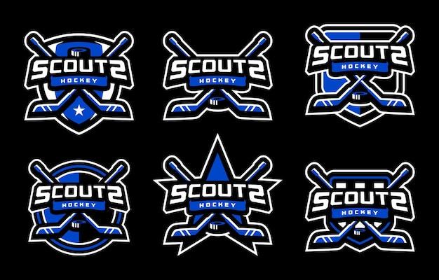 Sportowe logo scouts hockey
