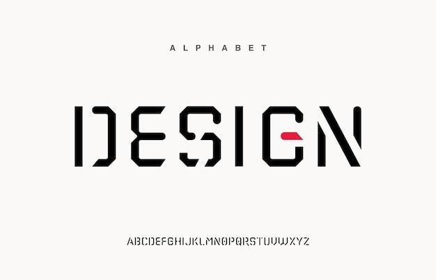 Sportowe nowoczesne czcionki alfabetu miejskiego. typografia, abstrakcyjna technologia, moda, cyfrowa, czcionka logo przyszłości kreatywnej.