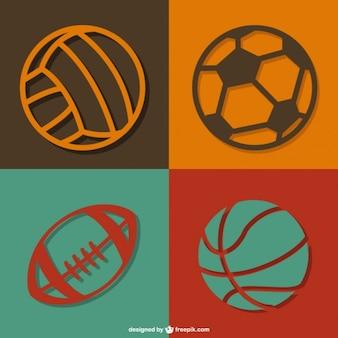 Sportowe piłki wektor