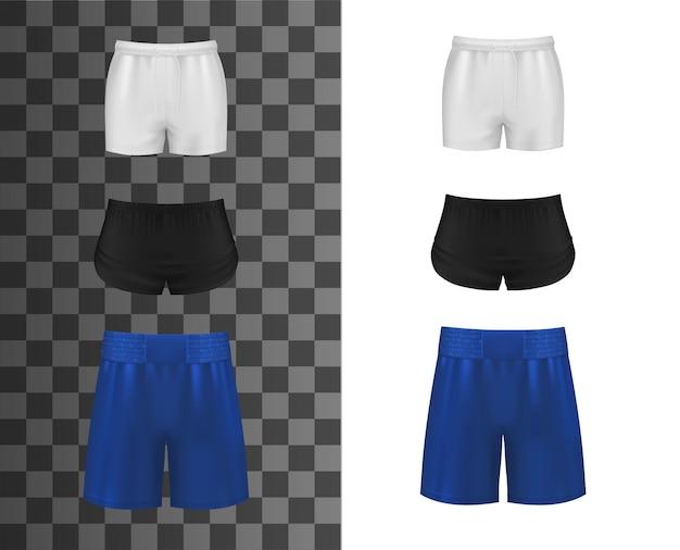 Sportowe spodenki, realistyczne ubrania lub spodnie sportowe