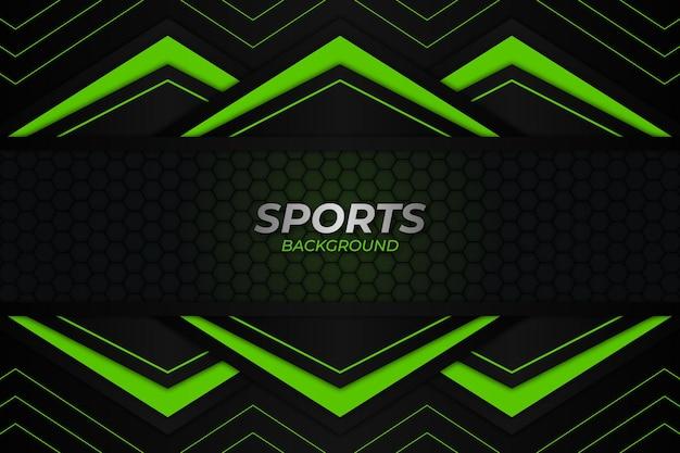 Sportowe tło ciemny i zielony styl
