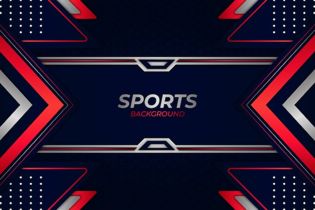 Sportowe tło w kolorze niebieskim i czerwonym