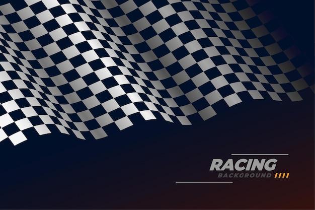 Sportowe wyścigi tło flaga z szachownicą