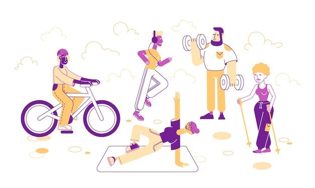 Sportowe zestaw ilustracji